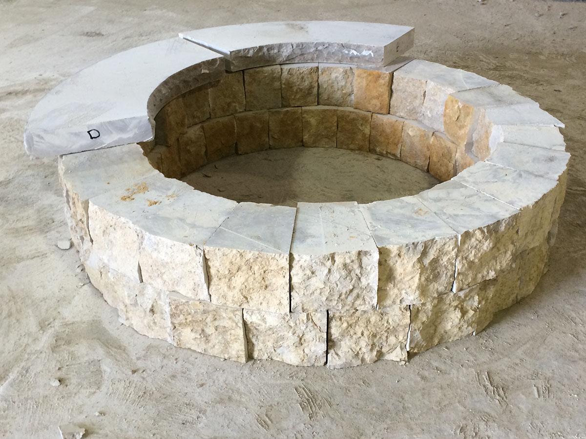 Natural Stone Fire Pit | Kits or Custom Designs | Lemke ...