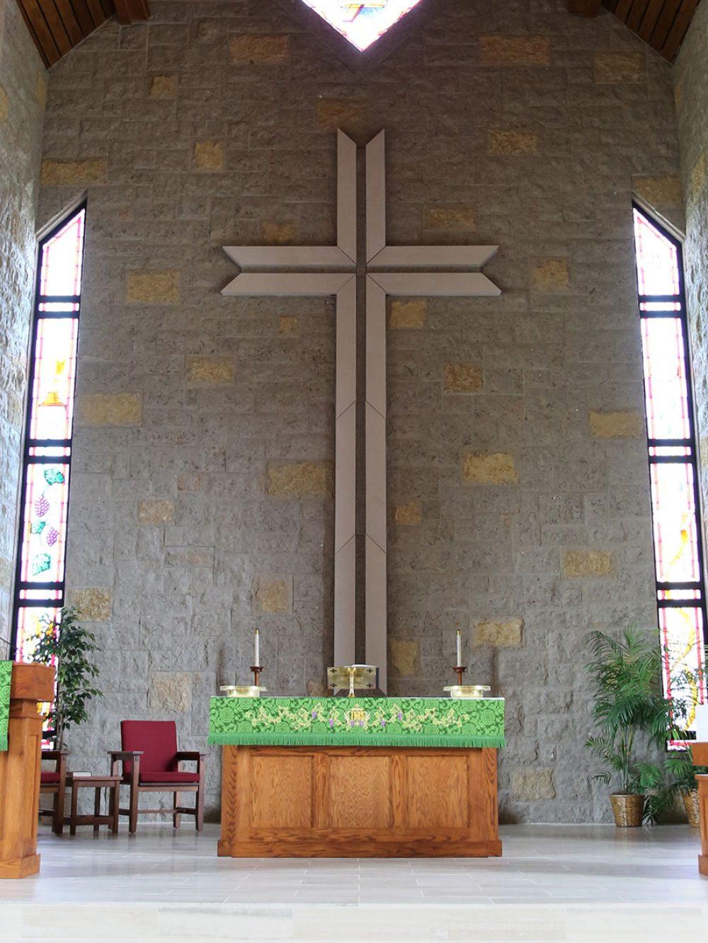 Custom cut specialty church cross